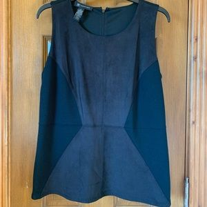 INC faux suede sleeveless top.